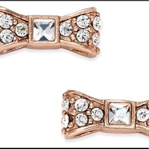 NWT Kate Soade rose gold bow earrings